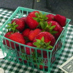 Strawberries from Guerneville Armstrong Valley Farm  Saturday /Wednesday market