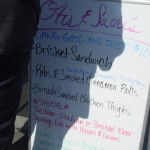 Otis and Sadie's menu Take  some home for your Memorial Day Picnic  --it will be an all party no work picnic for you!