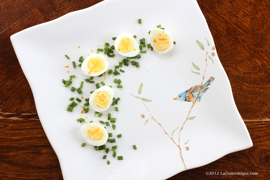 Cook in the Moment: Boiled Quail Eggs with Meyer Lemon Sea Salt & Chives