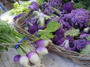 turnips and cauliflower from Orchard Farm